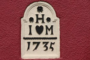 Moira Village completion stone 1735