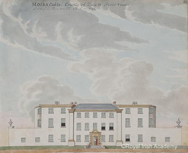 Moira Castle  1799 by Gabriel Beranger