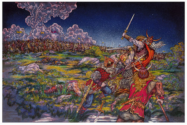 The Battle of Moira depicted by Jim Fitzpatrick