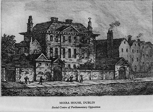 Moira House in Dublin built by Sir John Rawdon