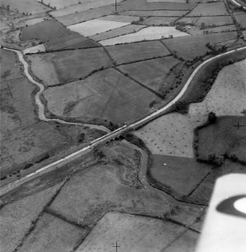 aerial view of the aqueduct across the Lagan