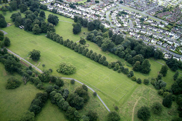 aerial view of Moira Demesne