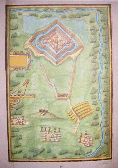 Richard Bartlett's Map of Inisloughlin Fort 1602