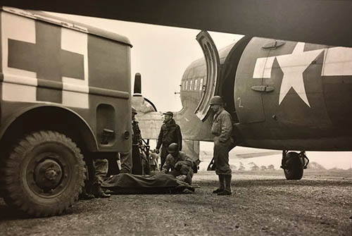 Maghaberry airfield casualty evacuation rehersal