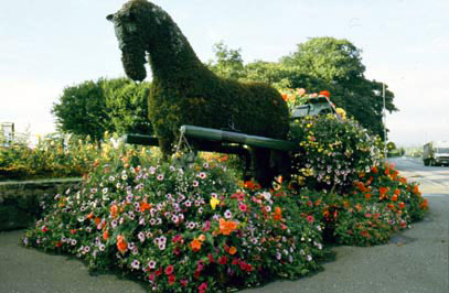The Moira floral horse