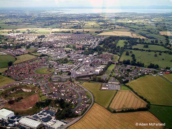 Aerial view of Moira from above Berwick View