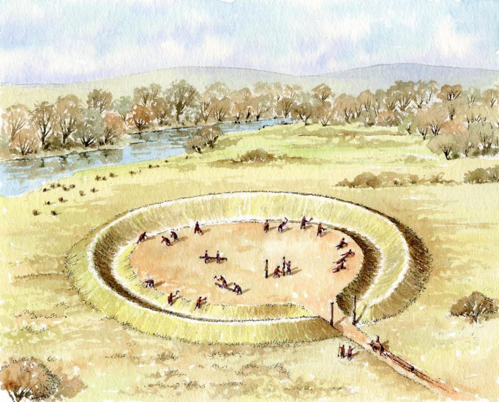 Henge painted by Philip Armstrong http://philarm.com