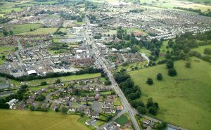 Aerial view of Moira
